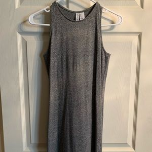 Gray cotton mini dress
